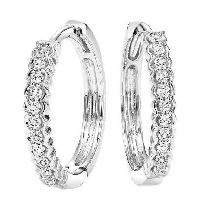 10 Karat White Gold Diamond Earrings
