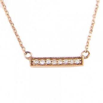 14kt Rose Gold Diamond Bar Pendant