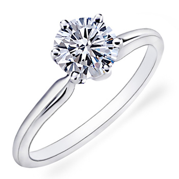 14 Karat White Gold Yehuda Solitaire Engagement Ring Charisma Jewelers