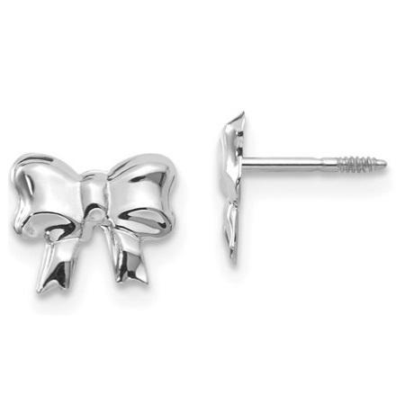 14 Karat White Gold Earrings Charisma Jewelers