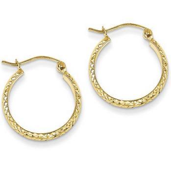14 Karat Yellow Gold Hoop Earrings Charisma Jewelers