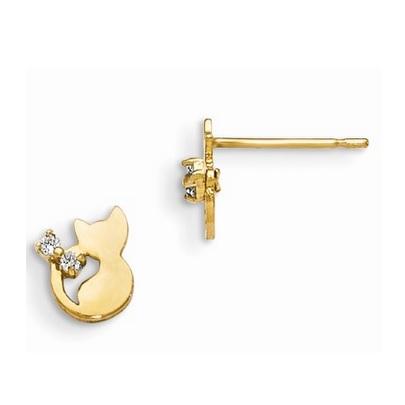 14 Karat Yellow Gold Earrings Charisma Jewelers