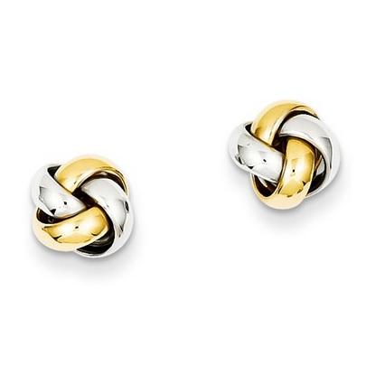 14 Karat Two Tone Gold Earrings