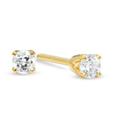 14 Kt 1 4 Ct Diamond Stud Earrings April