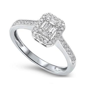 14 Karat White Gold Diamond Engagement Ring Charisma Jewelers